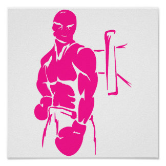 Hot Pink Boxing; Boxer Poster