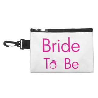 Hot Pink BRIDE TO BE Cosmetic Bag