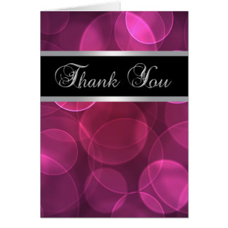 Hot Pink Bubbles Thank You Cards
