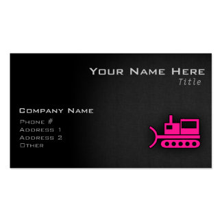 Hot Pink Bulldozer Pack Of Standard Business Cards