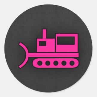 Hot Pink Bulldozer Stickers