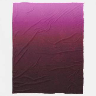 Hot Pink Burgundy Ombre Fleece Blanket