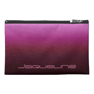 Hot Pink Burgundy Ombre Travel Accessory Bag