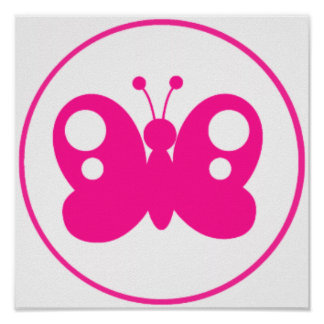 Hot Pink Butterfly Print