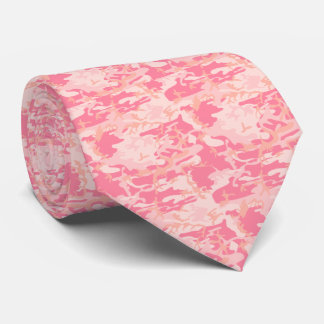 Hot Pink Camo Camouflage Girly Military Pattern Tie