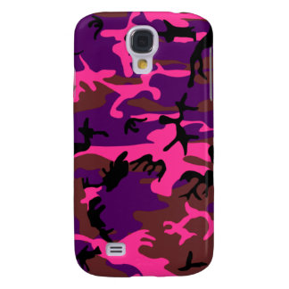 Hot Pink Camo Galaxy S4 Cases