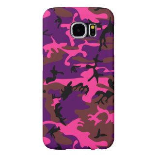 Hot Pink Camo Samsung Galaxy S6 Cases