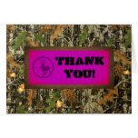Hot Pink Camo Thank You Card