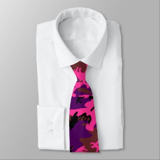 Hot Pink Camo Tie