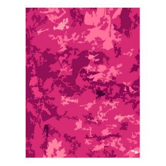 Hot Pink Camo Unique Camouflage Design Pattern Postcards