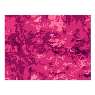 Hot Pink Camo Unique Camouflage Design Pattern Postcard
