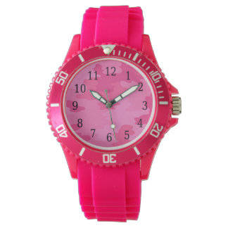 Hot Pink Camouflage Watch