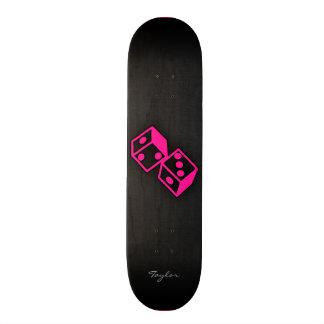 Hot Pink Casino Dice Skate Board
