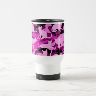 Hot Pink Catmouflage Travel Mug