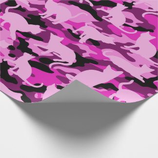 Hot Pink Catmouflage Wrapping Paper