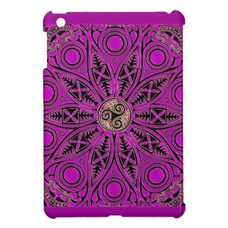 Hot Pink Celtic Triskele Mandala Case For The iPad Mini