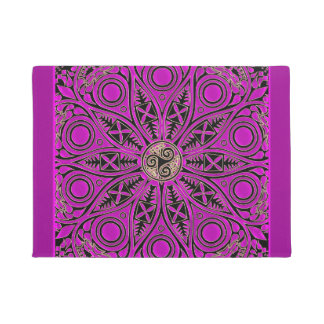 Hot Pink Celtic Triskele Mandala Doormat