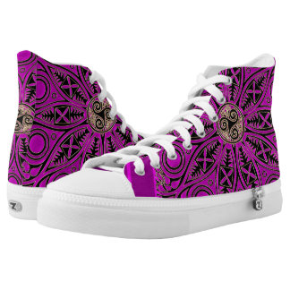 Hot Pink Celtic Triskele Mandala High Tops