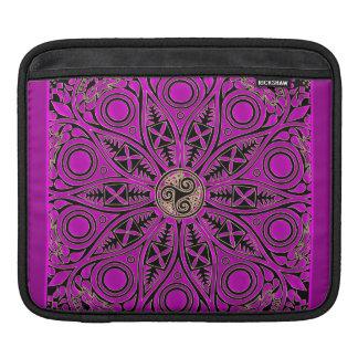 Hot Pink Celtic Triskele Mandala iPad Sleeve