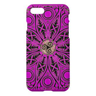 Hot Pink Celtic Triskele Mandala iPhone 7 Case