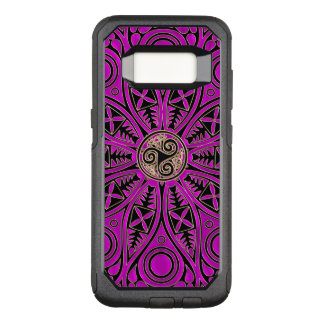 Hot Pink Celtic Triskele Mandala OtterBox Commuter Samsung Galaxy S8 Case