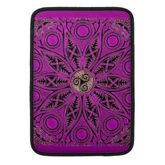 Hot Pink Celtic Triskele Mandala Sleeve For MacBook Air