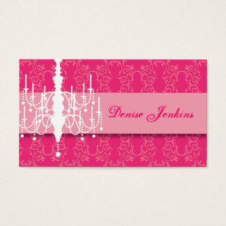 Hot Pink Chandelier Biz Card