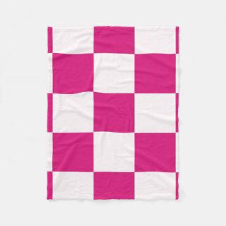 Hot Pink Checkerboard Fleece Blanket