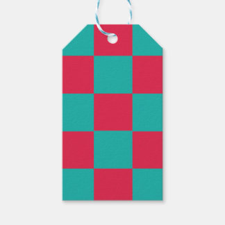 Hot Pink Checkerboard Gift Tags