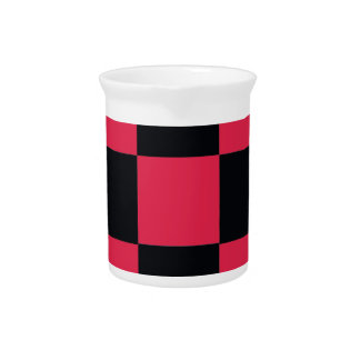 Hot Pink Checkerboard Pitcher