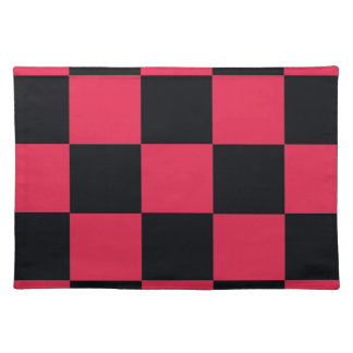 Hot Pink Checkerboard Placemat