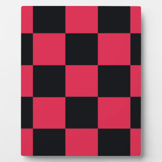 Hot Pink Checkerboard Plaque