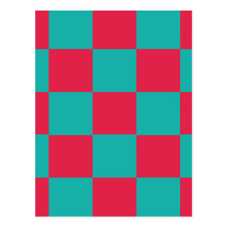 Hot Pink Checkerboard Postcard