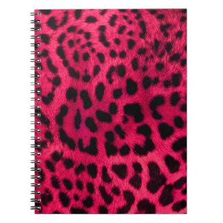 Hot Pink Cheetah Pattern Notebooks
