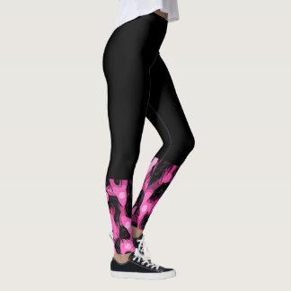 Hot Pink Cheetah Print Socks Leggings