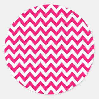 Hot Pink Chevron Stickers