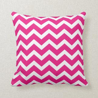 Hot Pink Chevron Stripe Pillow