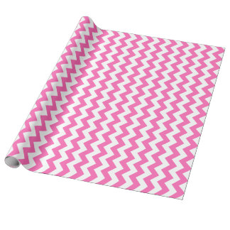 Hot Pink Chevron Wrapping Paper