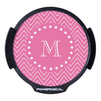 Hot Pink Chevron | Your Monogram LED Car Decal
