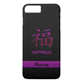 Hot Pink Chinese Happiness Kanji iPhone 7 Case