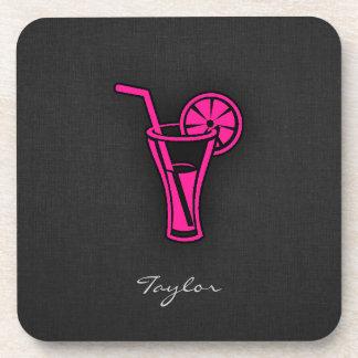 Hot Pink Cocktail Beverage Coaster