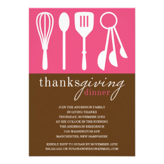 HOT PINK COOKING | THANKSGIVING DINNER INVITE