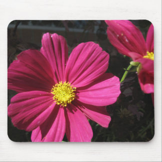Hot Pink Cosmos Floral Mouse Pad