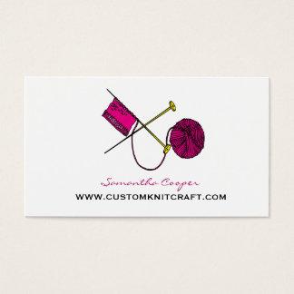 Hot Pink Crocheting & Knitting Business Card