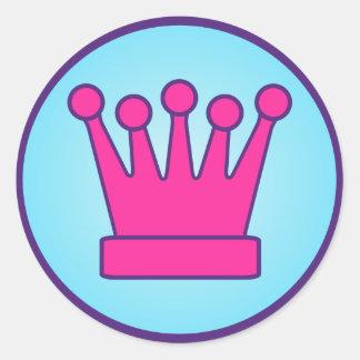 Hot Pink Crown Sticker