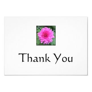 Hot Pink Crysanthemem Thank You Notes 9 Cm X 13 Cm Invitation Card