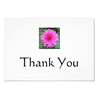 Hot Pink Crysanthemem Thank You Notes Card
