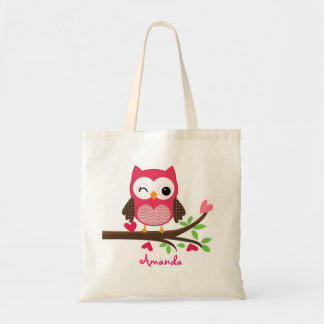 Hot Pink Cute Owl Girly Bags