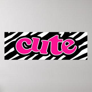 Hot Pink; Cute Zebra Stripes Print
