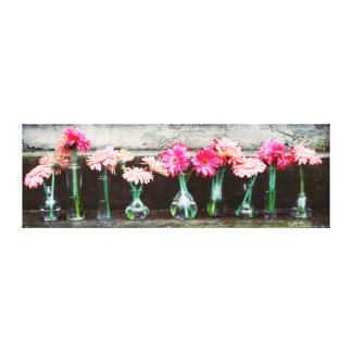Hot Pink Daisy Gallery Wrapped Canvas